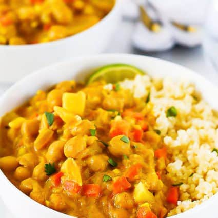 Chickpea Curry with Quinoa