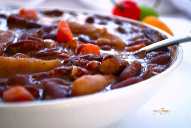Jamaican Stew Peas with Dumplings (Spinners) | Healthier Steps