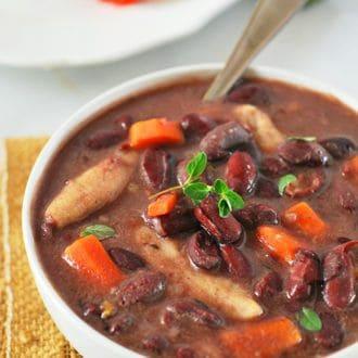 Jamaican stew peas with dumplings (vegan)