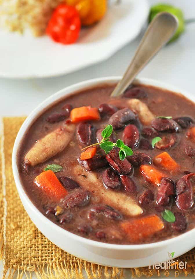 jamaican stew peas with dumplings spinners vegan