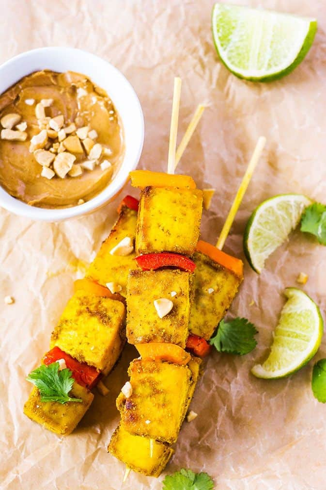 Tofu Satay Gluten-Free, Vegan
