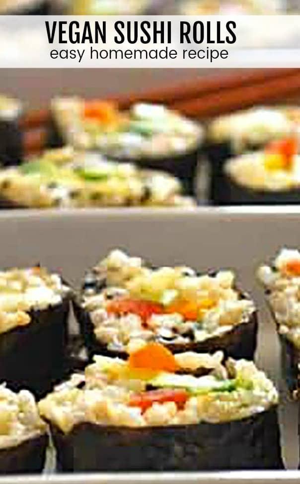 Easy Homemade Vegan Sushi Rolls