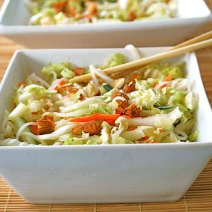 Napa Cabbage and Rice Noodle Salad (Gluten Free)
