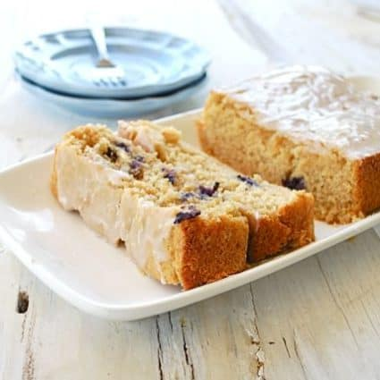 Pina Colada Bread with Blueberries