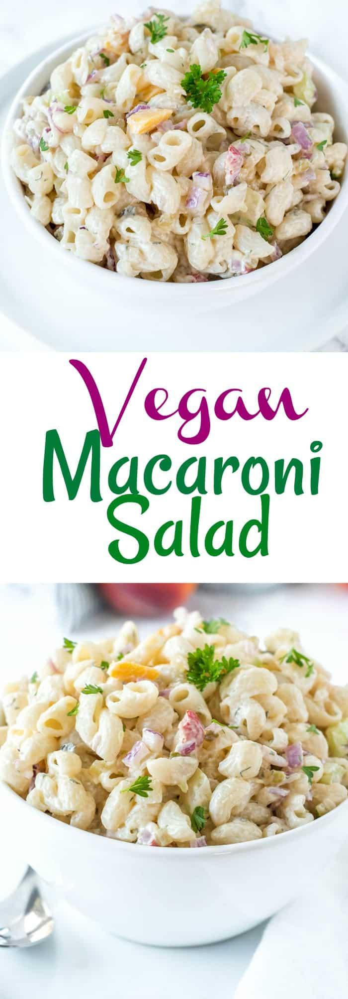 Vegan Macaroni Salad Pin