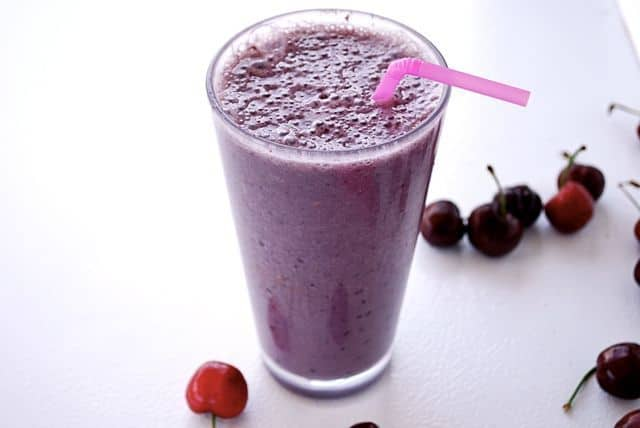 Cherry Almond Smoothie (Gluten Free, Paleo)