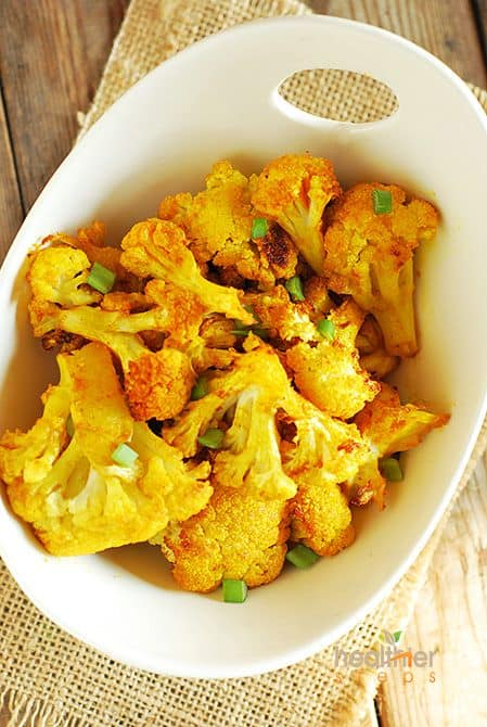 Quick and Easy Roasted Cauliflower (Gluten Free)