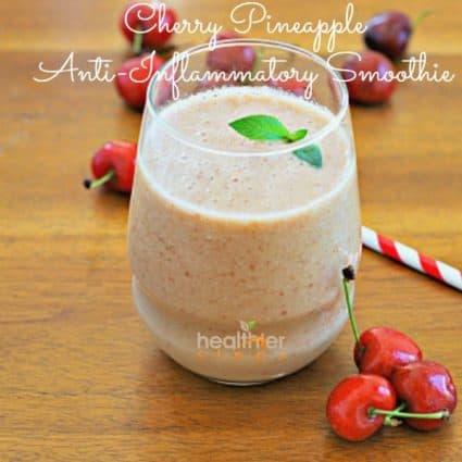 Cherry Pineapple Smoothie – The Best Anti-inflammatory Smoothie (Gluten Free, Raw)