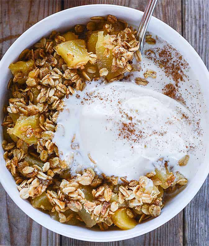 Healthy Apple Crisp (Gluten Free & Vegan