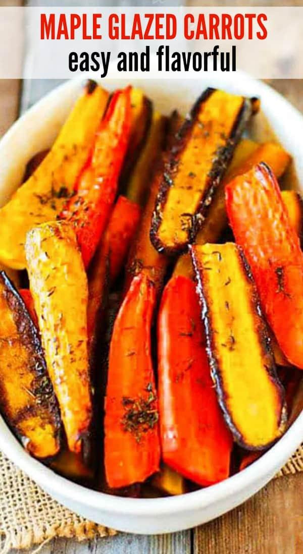 Easy Maple Glazed Carrots