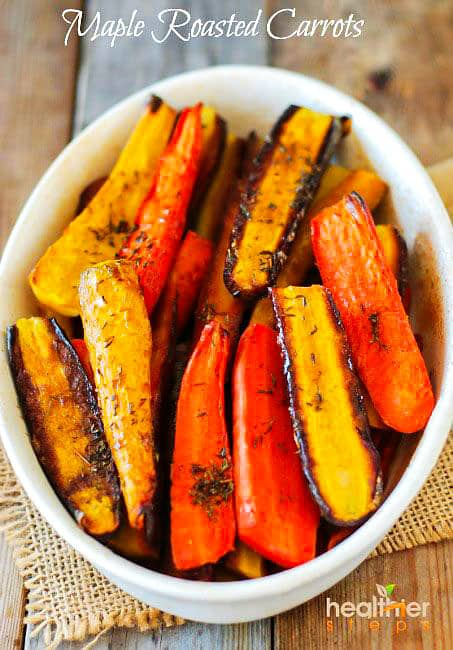 Maple Roasted Carrots (Vegan)