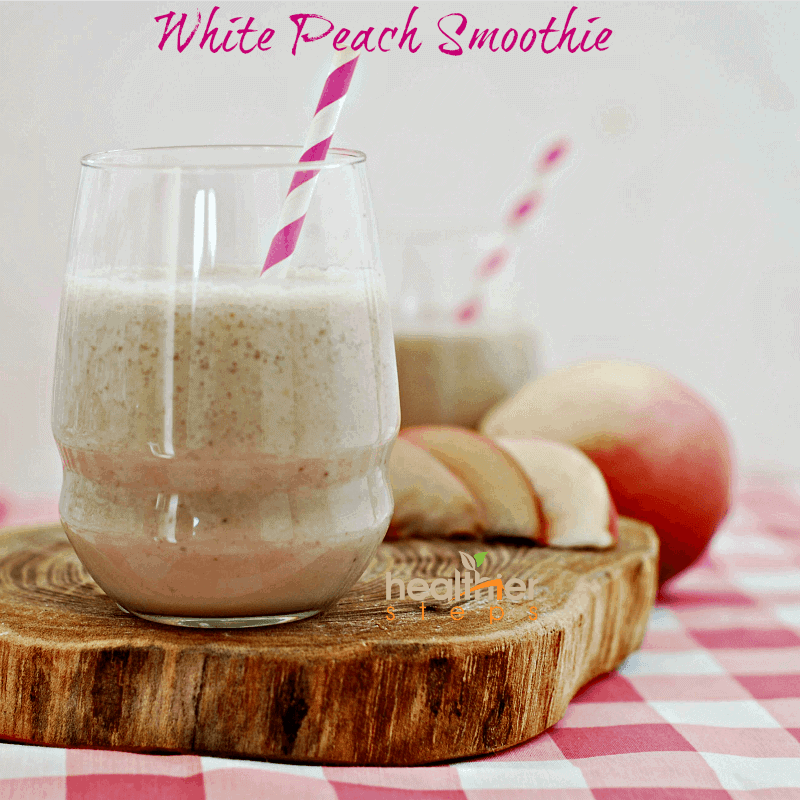 White Peach Smoothie (Vegan)