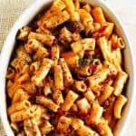 Rigatoni With Sundried Tomato Pesto (Gluten-free, Vegan)