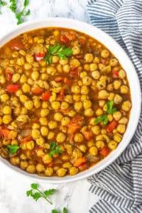 Chickpea Stew (Vegan, Gluten-free) - Healthier Steps