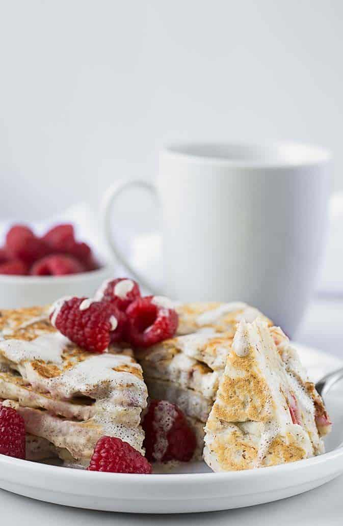 Raspberry Almond Pancakes with Lemon Coconut Sauce (Gluten ...