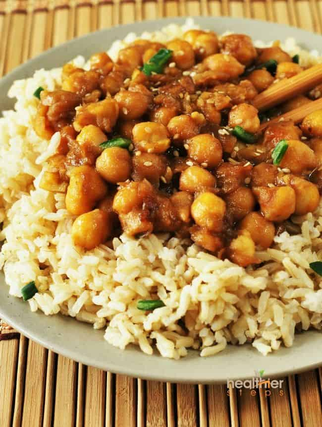 General Tso's Chickpeas650m