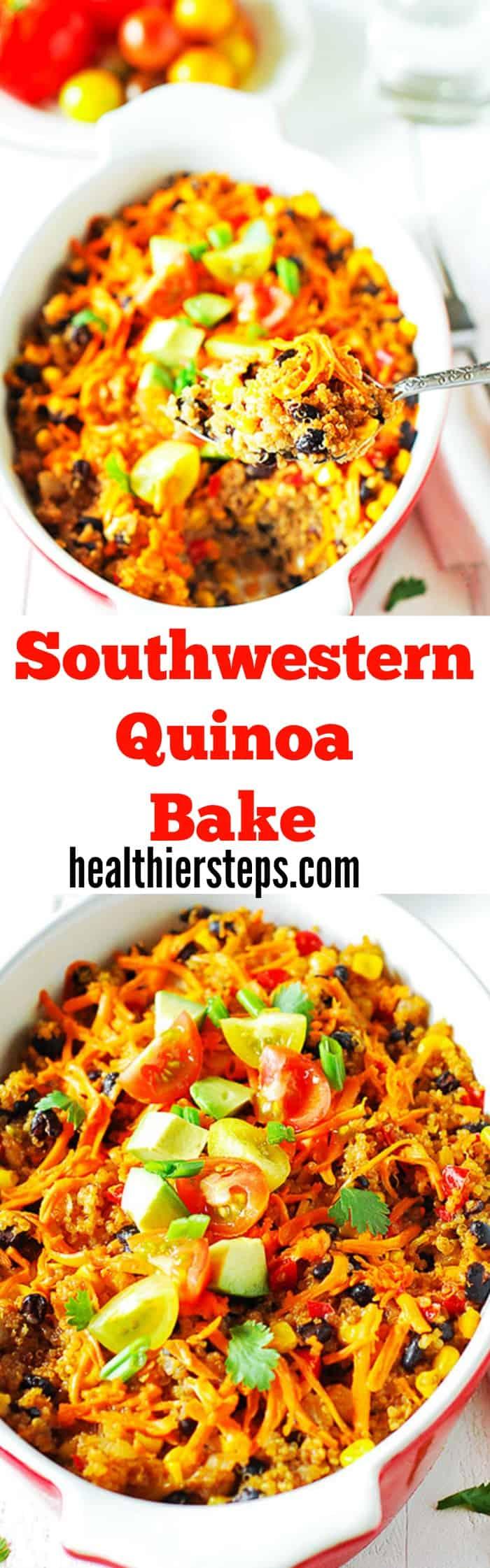 Southwestern Quinoa Bake (Vegan)