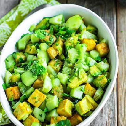 Avocado Tofu Salad