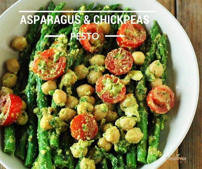 Asparagus And Chickpea Pesto