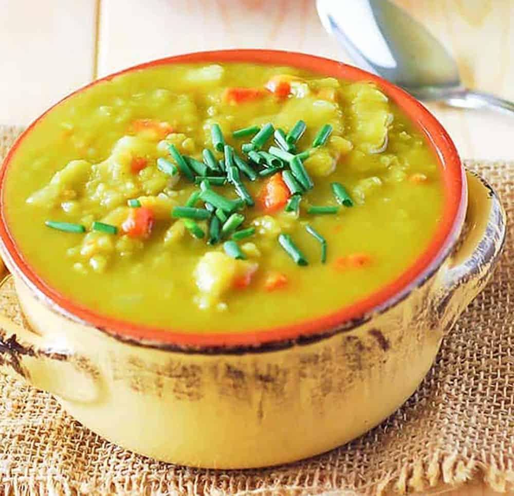 Split Pea Soup In A Bowl