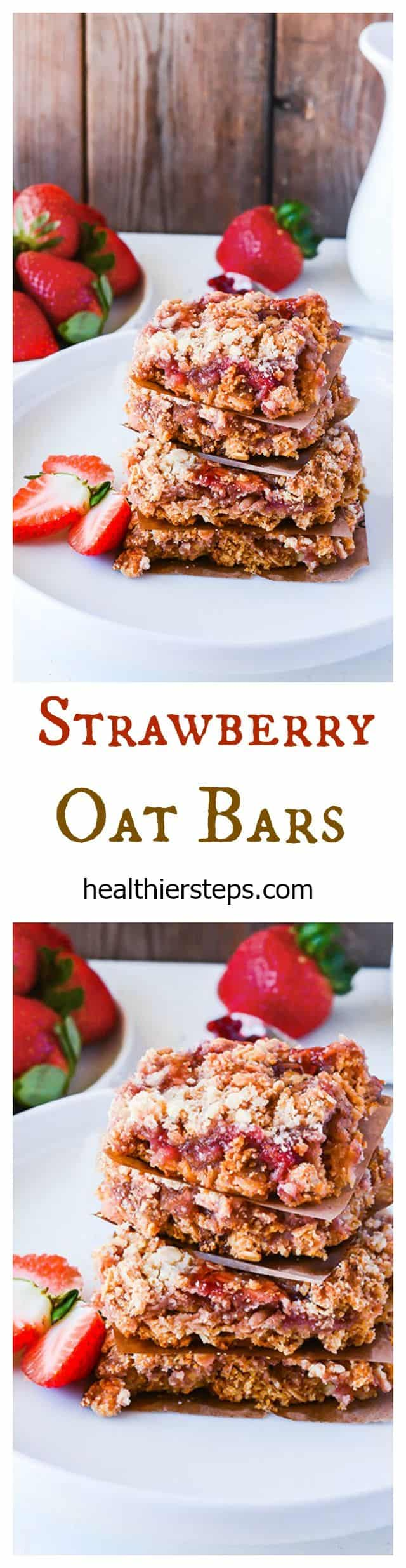 Strawberry Oat Bars (Gluten-Free Vegan)