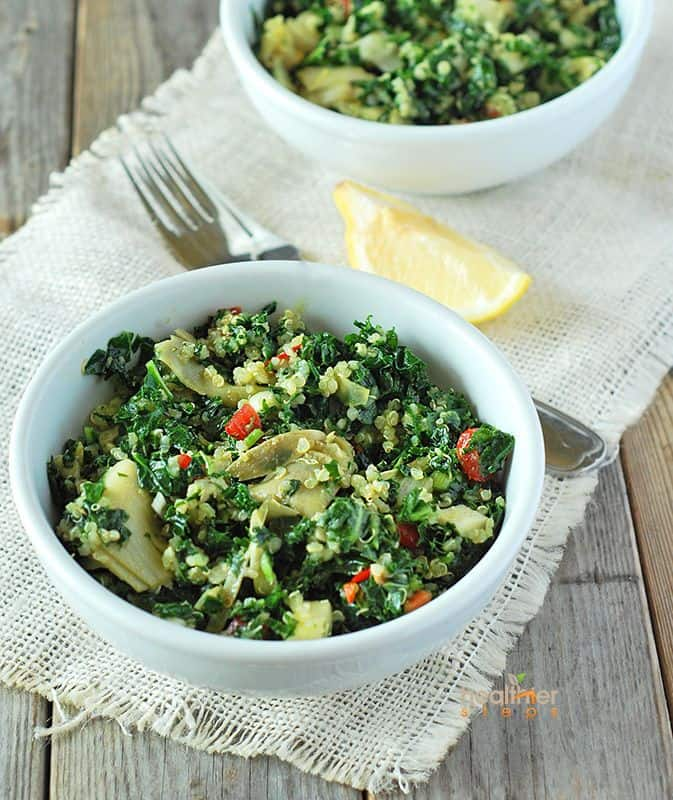 Kale, Quinoa and Artichoke Salad