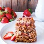 Strawberry Oat Bars (Gluten-Free Vegam)