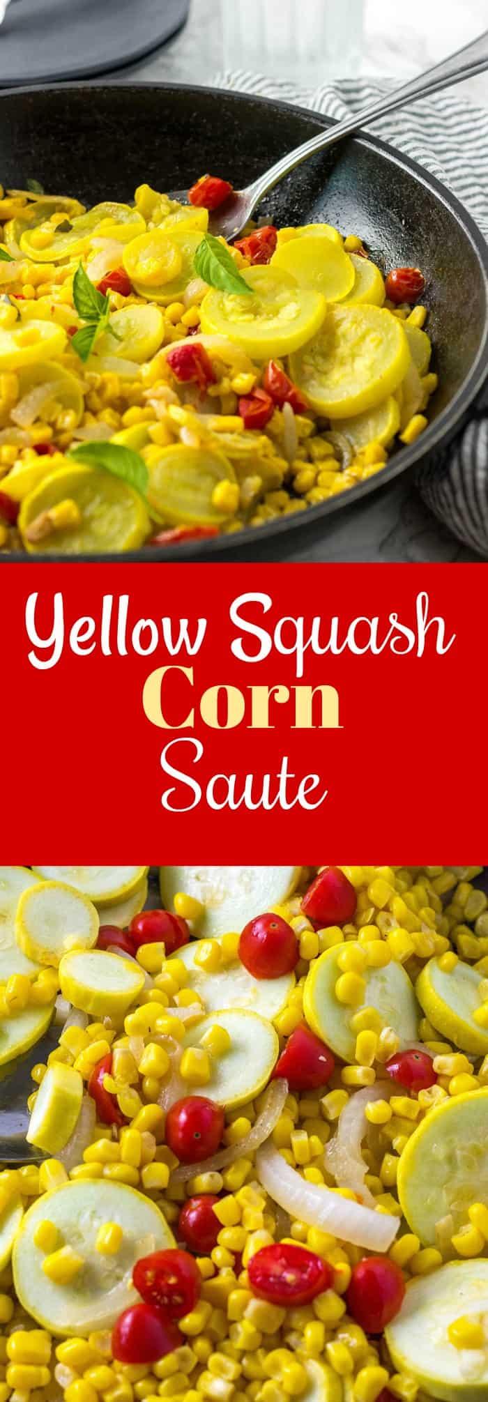 Yellow Squash Corn Saute