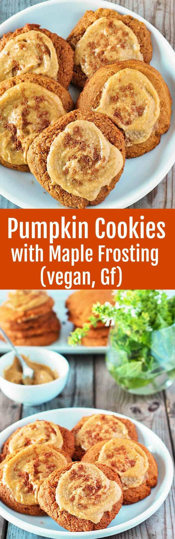 Pumpkin Cookies with Maple Frosting (Vegan)