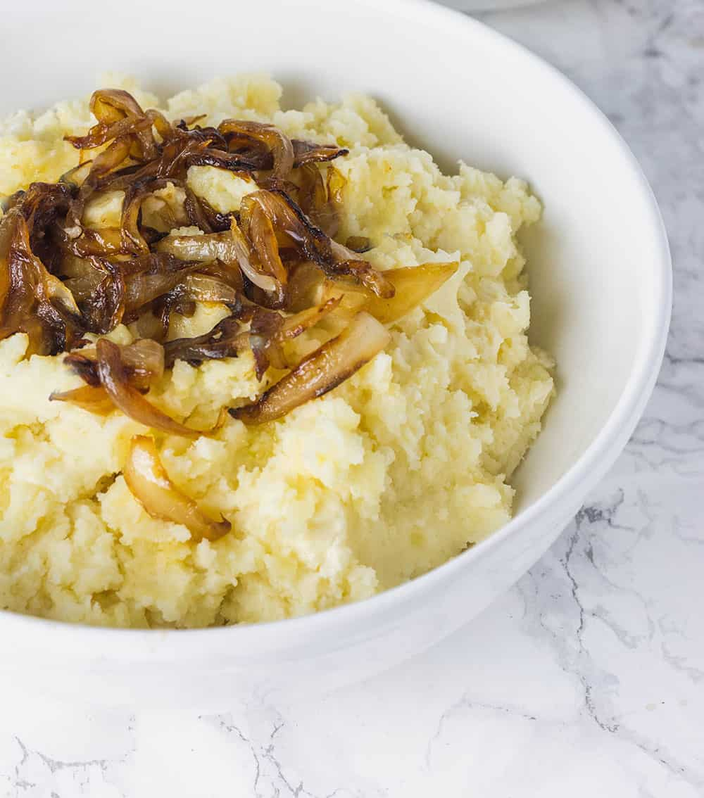 Best Vegan Mashed Potatoes With Caramelized Onions