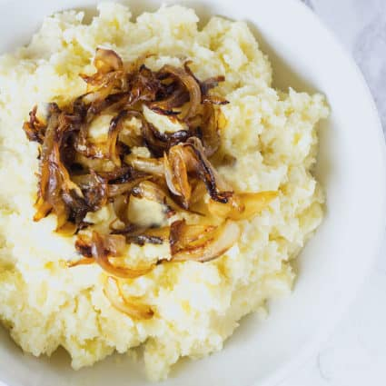 Mashed Potatoes with Caramelized Onion