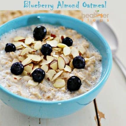 Blueberry Almond Oatmeal (Gluten-Free, Vegan)
