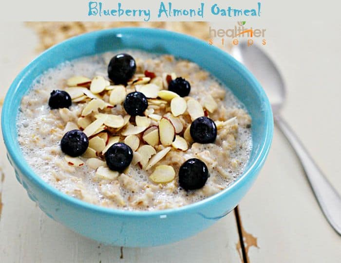 blueberry-almond-oatmeal