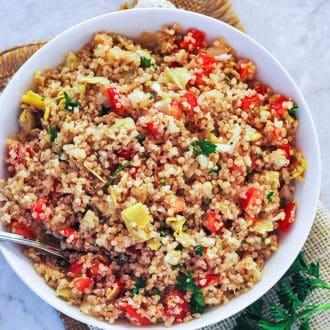 Artichoke Quinoa Salad
