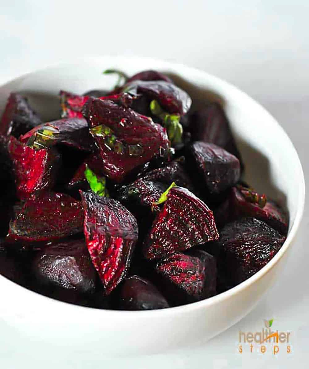 Roasted Beets With Basil Recipe