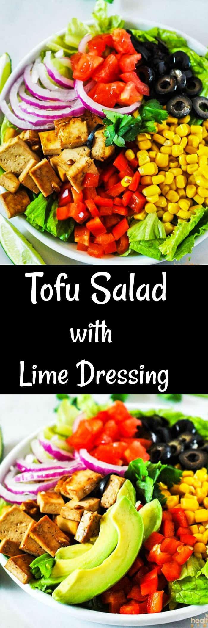 Tofu Salad With Lime Dressomg