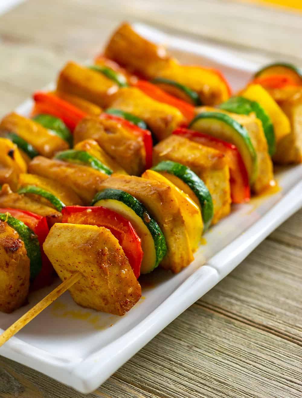 Citrus Tofu Kebabs