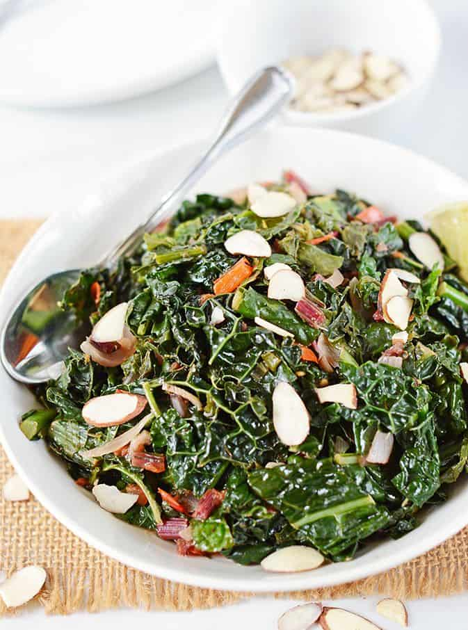 Sauteed Kale With Onions and Garlic
