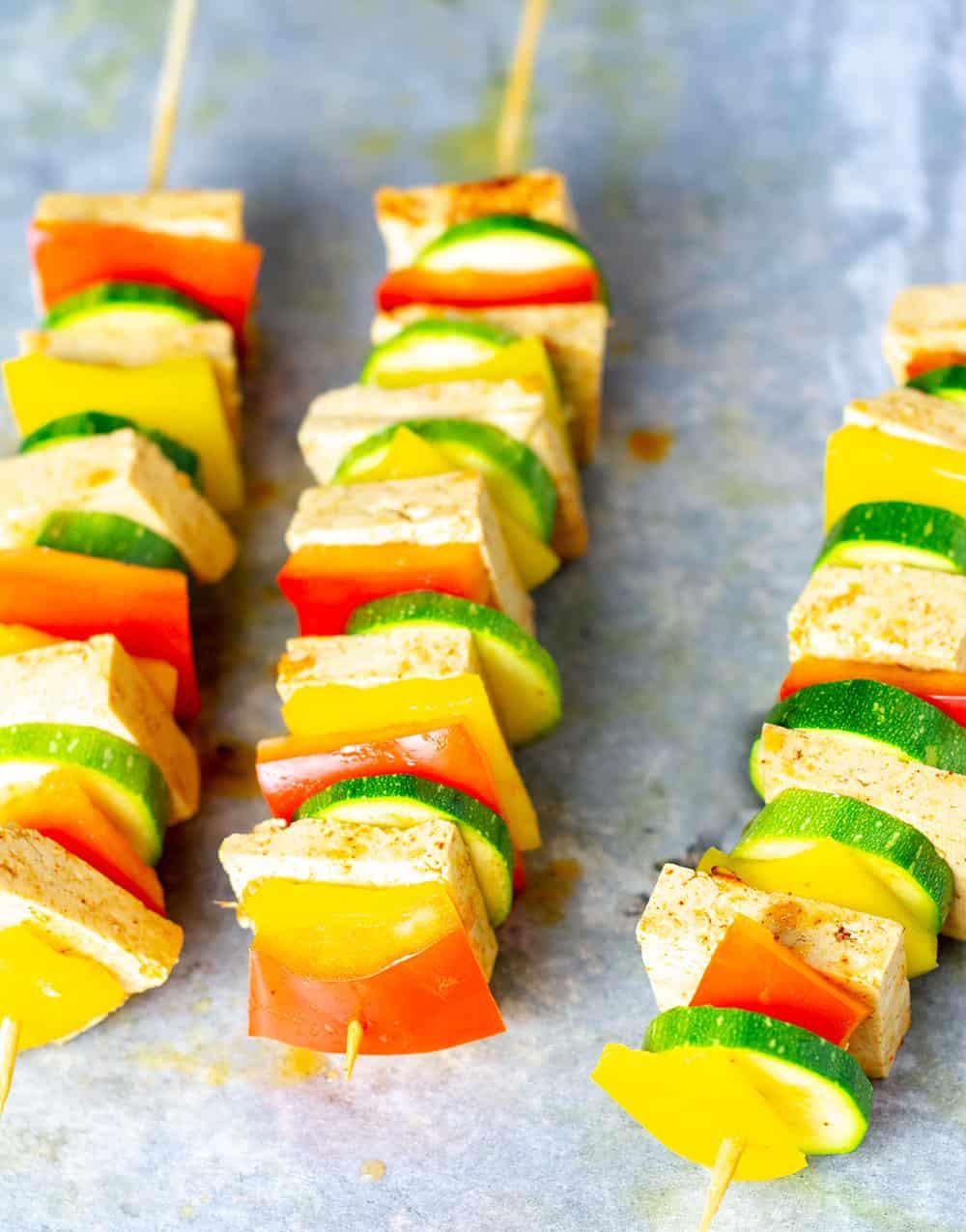 Citrus Tofu Kebab Skewers