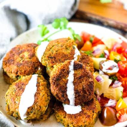 Vegan, Gluten-Free Baked Falafel
