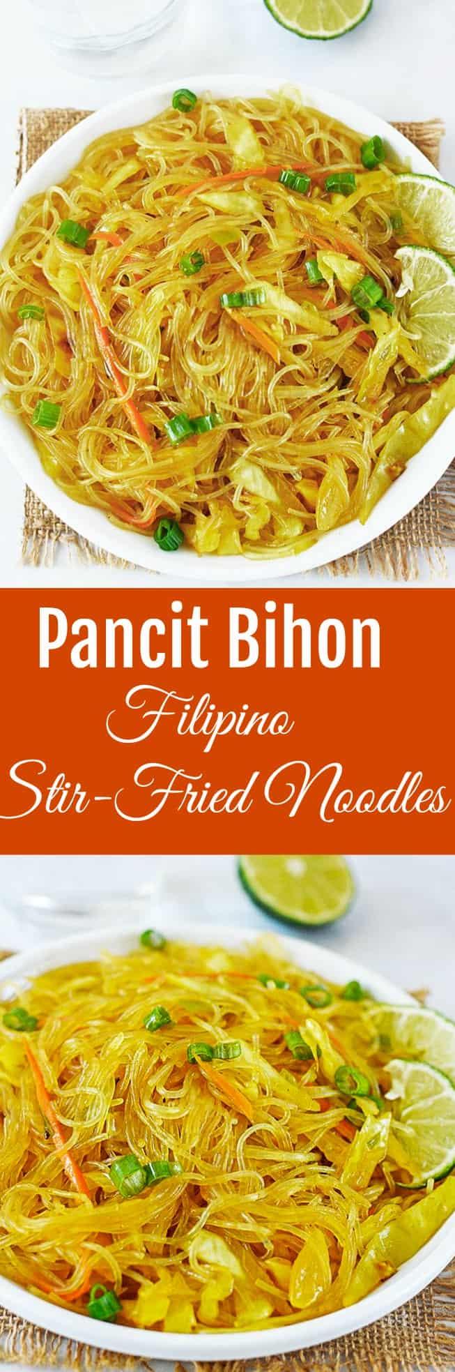 Pancit Bihon (Filipino Noodle) | Healthier Steps
