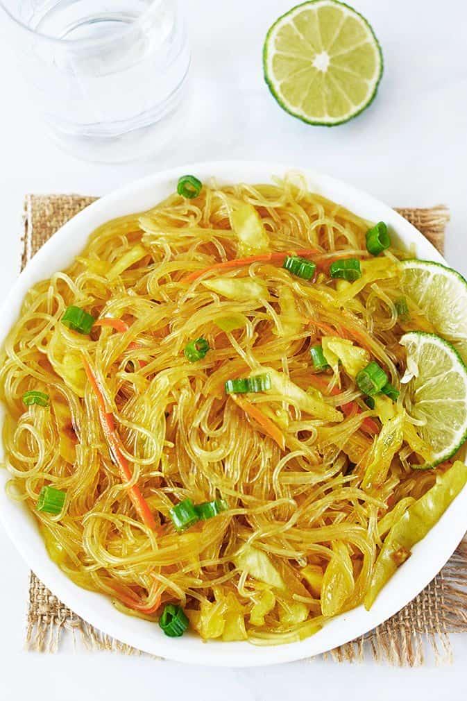 Pancit Bihon (Filipino Stir-Fried Noodles)