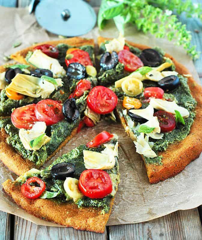 Mediterranean Pumpkin Pizza Gluten-Free Vegan