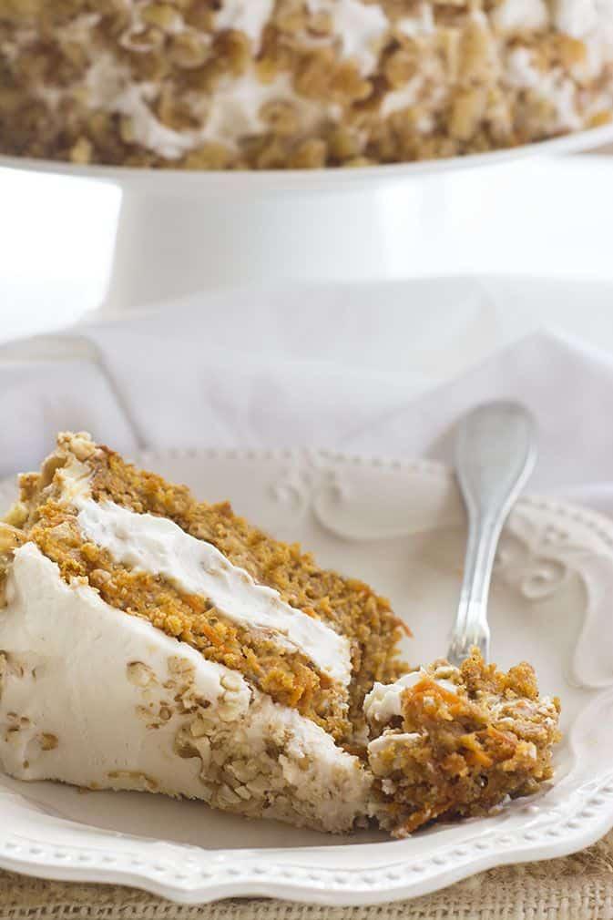 Vegan, Gluten-Free Carrot Cake - Healthier Steps