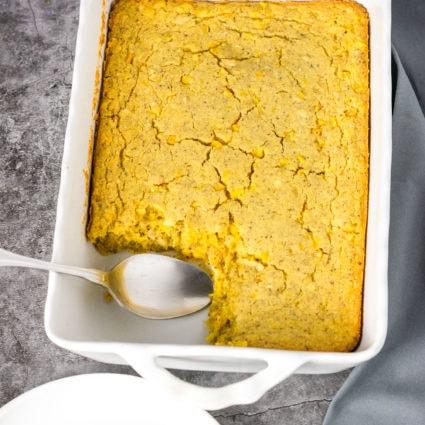 Vegan Gluten-Free Cornbread Casserole