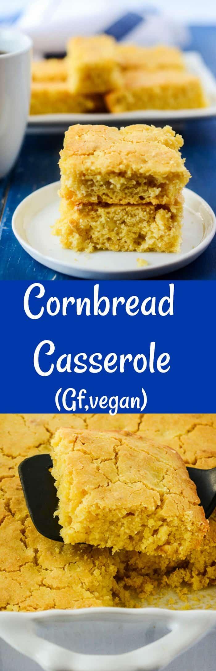 Cornbread Casserole (Vegan, Gluten-Free)
