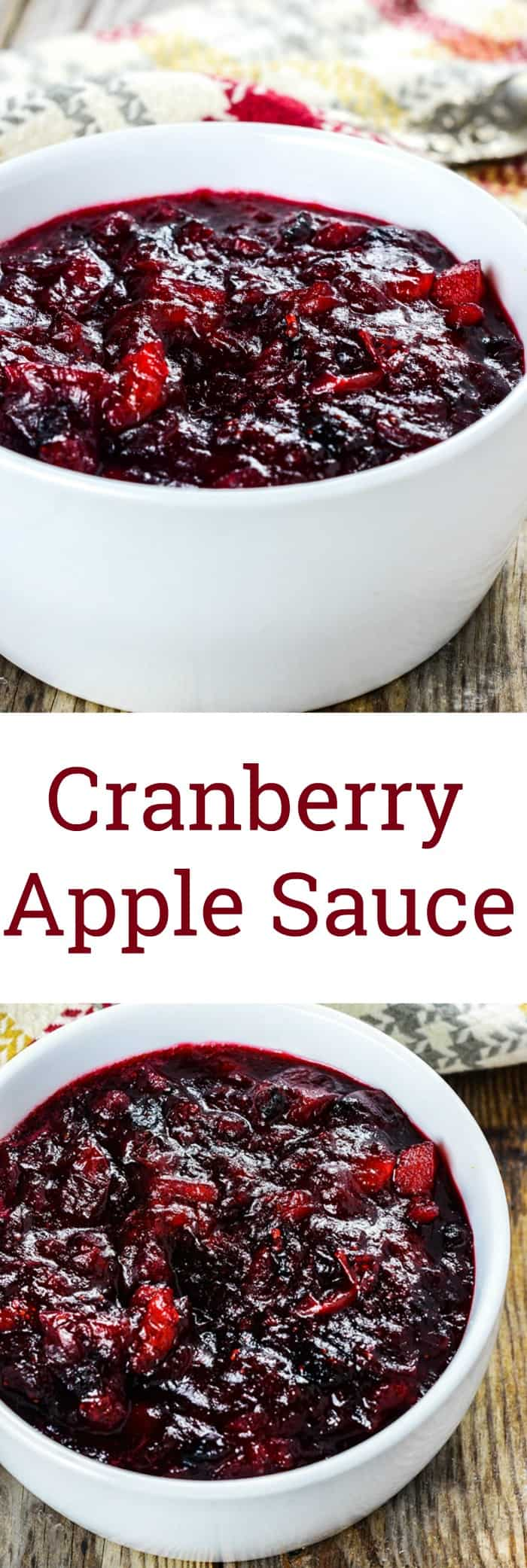 Healthy Cranberry Applesauce
