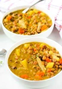 Jamaican Gungo Peas Soup (Pigeon Peas) Vegan - Healthier Steps