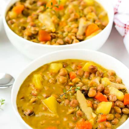 Jamaican Gungo Peas Soup (Pigeon Peas) Vegan