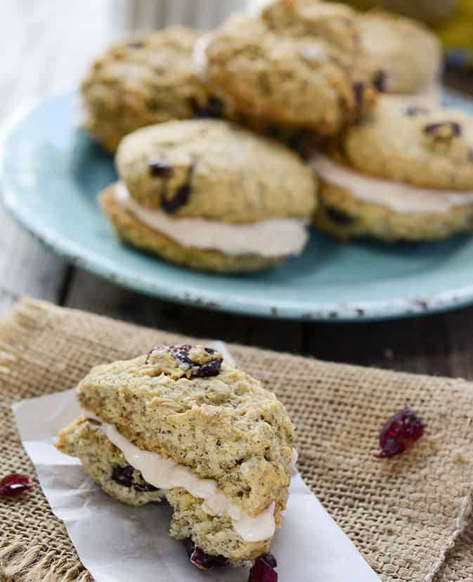 Cranberry Oatmeal Sandwich Cookies Vegan Gluten-Free